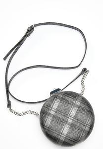 Plaid Circle Crossbody Bag