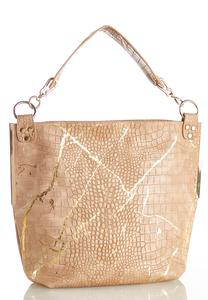 Gold Snakeskin Hobo Bag