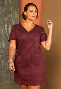 Plus Size Faux Suede Shift Dress