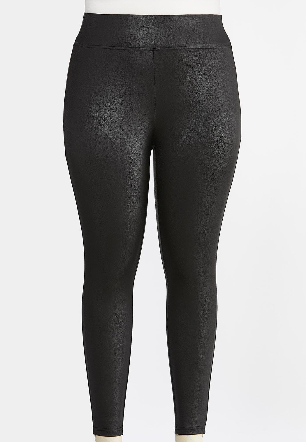 Plus Size Coated Leggings