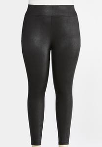 Plus Size Coated Leggings