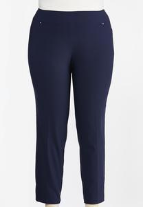 Plus Size Slim Leg Bengaline Pants