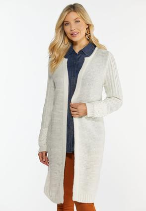 Mixed Texture Cardigan Sweater