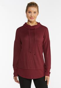 Hacci Cowl Neck Sweatshirt