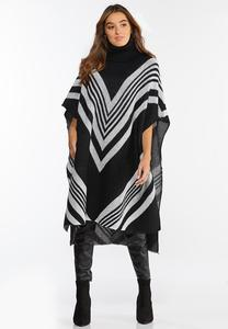 Long Chevron Poncho
