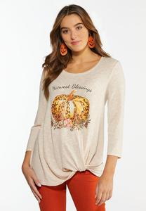 Plus Size Harvest Blessings Twist Top