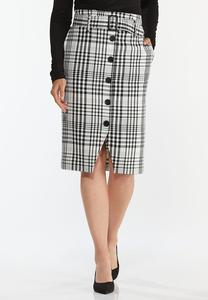 Checkered Pencil Skirt