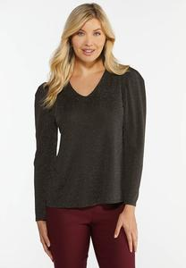 Shimmer Puff Sleeve Top