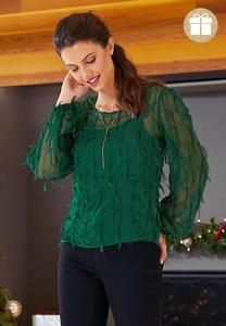 Plus Size Petal Fringe Top