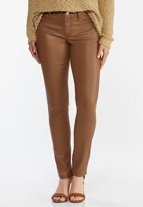 Caramel Coated Skinny Jeans