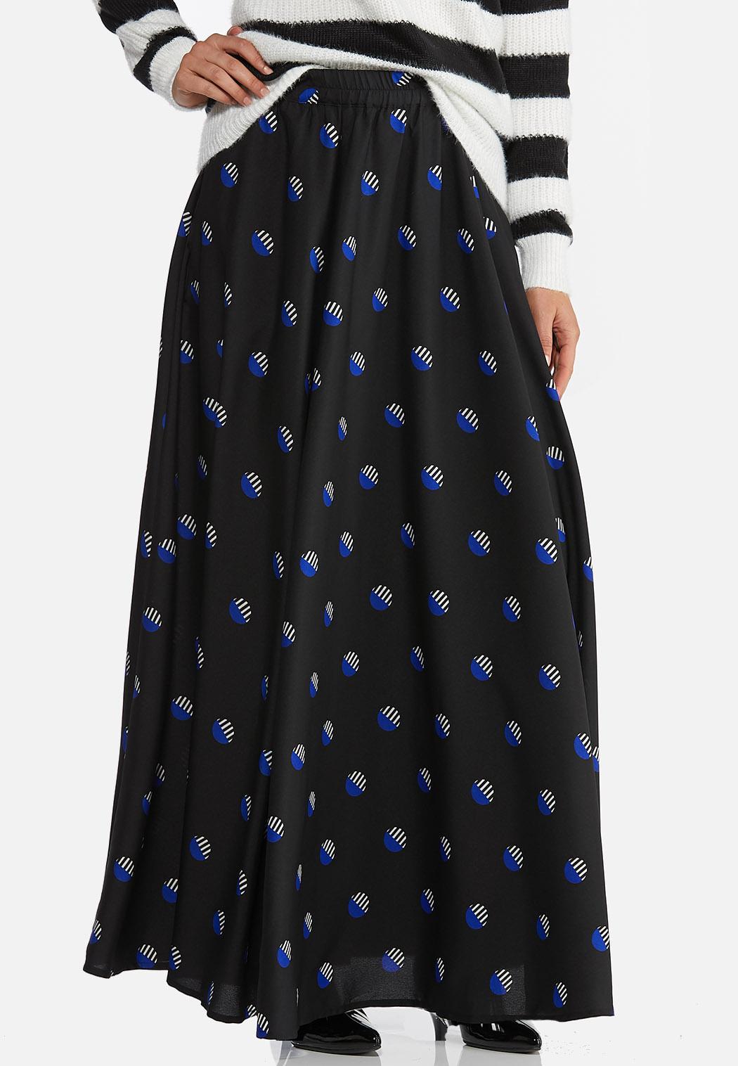 Deco Dot Maxi Skirt