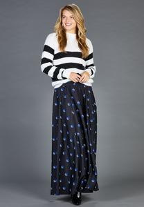 Plus Size Deco Dot Maxi Skirt
