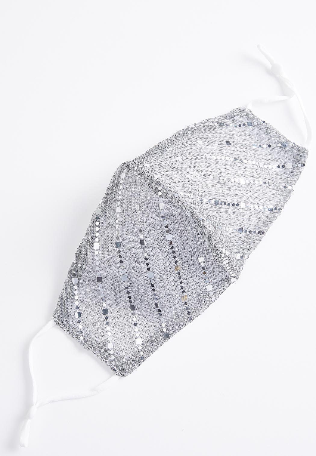 Sequin Stripe Face Mask