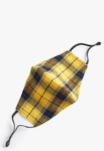 Yellow Plaid Face Mask