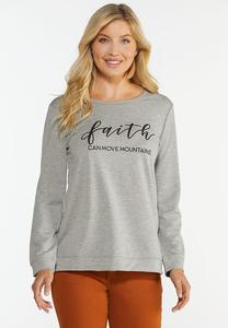Plus Size Faith Can Move Mountains Sweatshirt