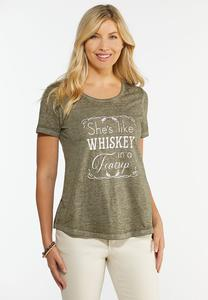 Plus Size Whiskey In A Teacup Tee