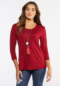 Plus Size Classic Solid Top