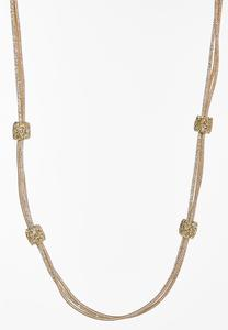 Glimmery Gold Mesh Necklace