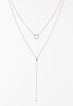 Delicate Layered Y- Necklace