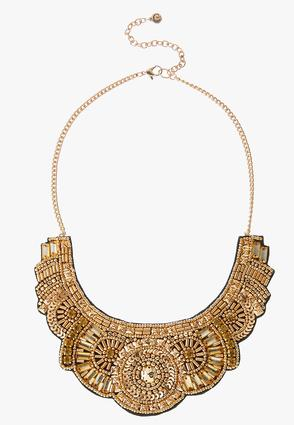 Gold Shield Necklace