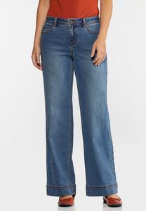 Petite High-Rise Wide Leg Jeans
