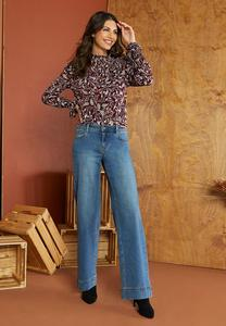 Petite High-Rise Wide Leg Jeans