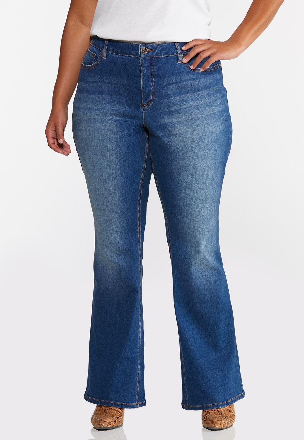 Plus Petite Flare High-Rise Jeans