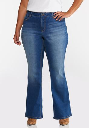 Plus Petite Flare High- Rise Jeans
