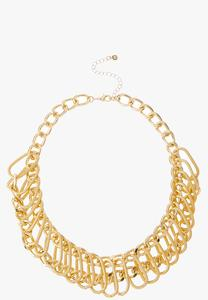 Statement Chain Bib Necklace