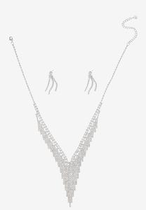 Cupchain Waterfall Necklace Earring Set