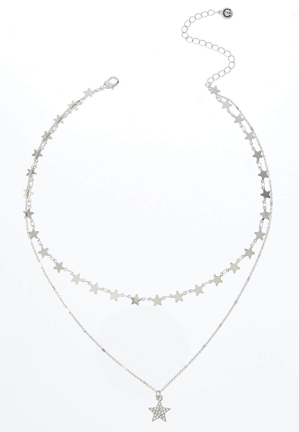 Delicate Layered Star Necklace
