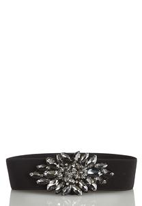 Plus Size Stone Embellished Stretch Belt