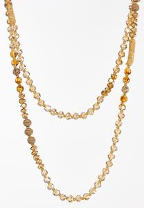 Layered Rondelle Necklace