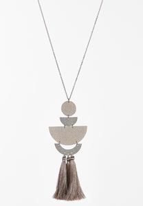 Lucite Tassel Pendant Necklace