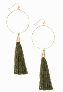 Hoop Tasseled Earrings