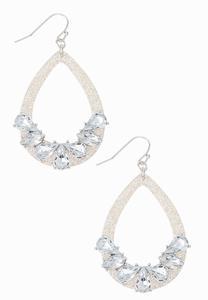 Lucite Stone Earrings