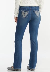 Angel Wing Bootcut Jeans