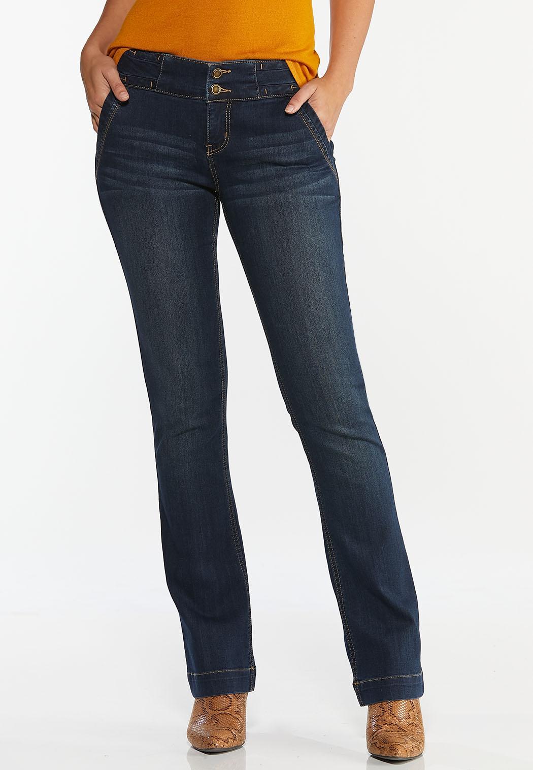 Double Button Jeans