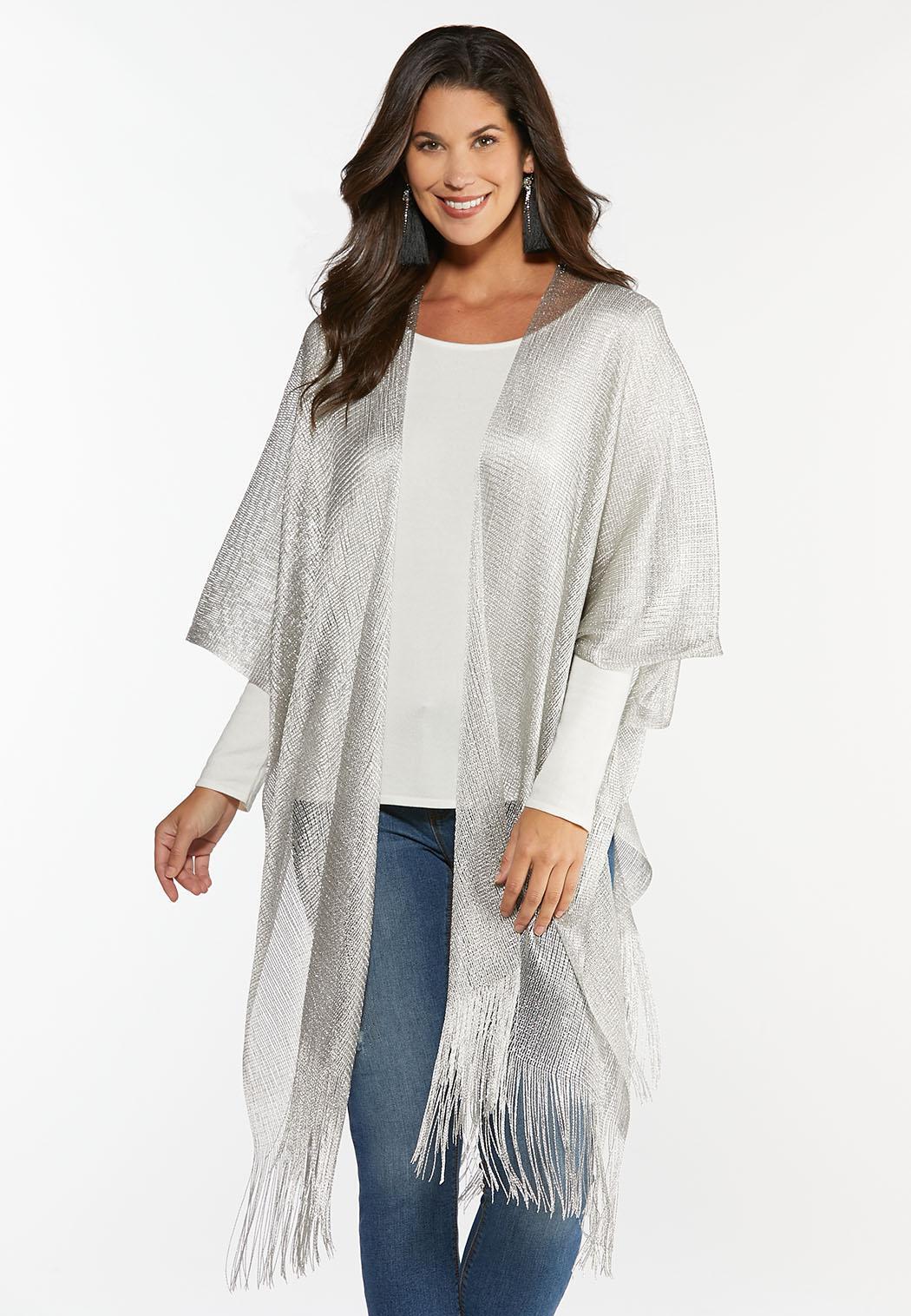 Shimmery Silver Kimono