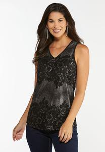 Metallic Lace Tank