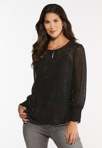 Metallic Multi Dotted Top