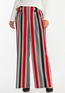 Petite Stripe Button Pants