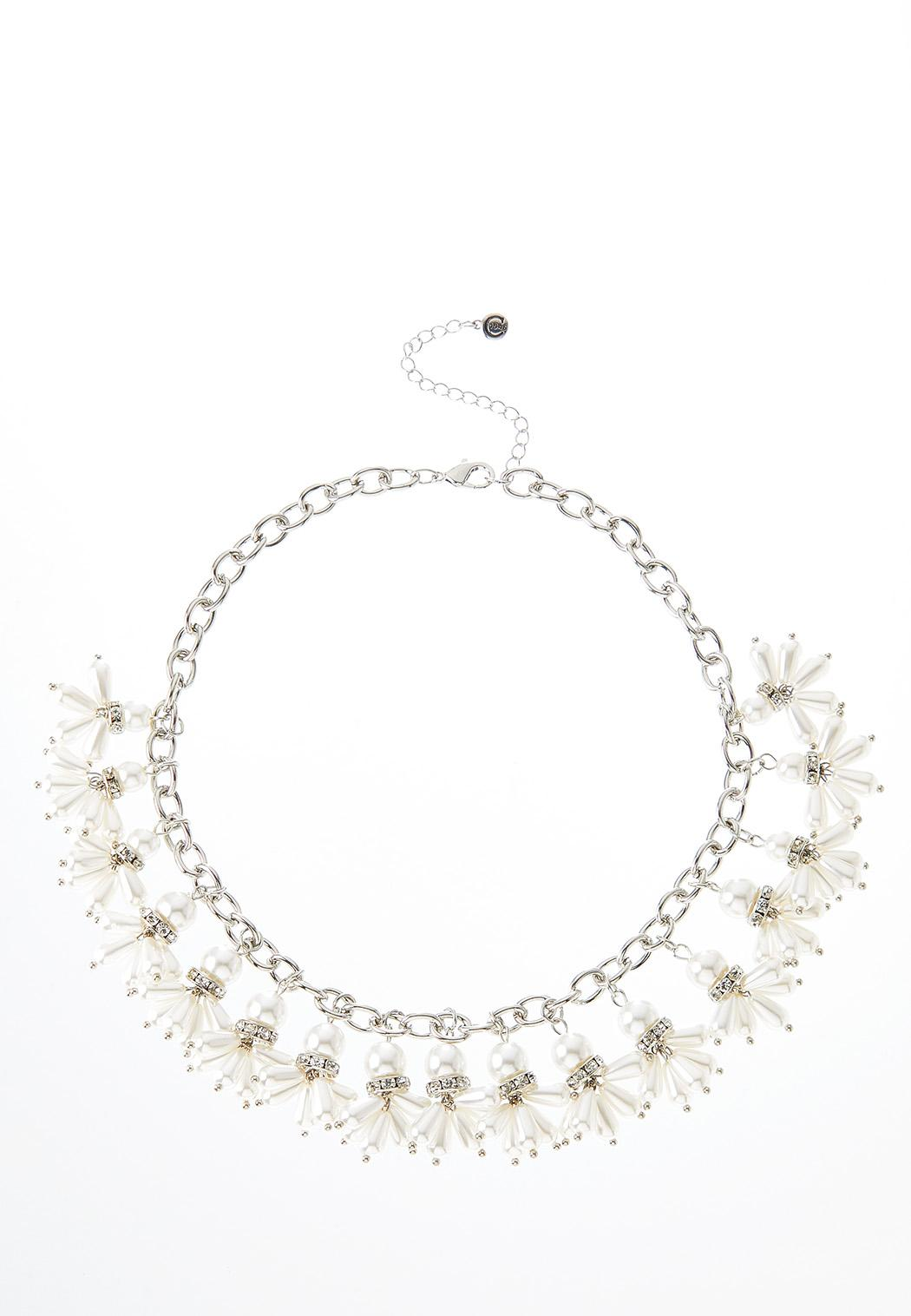 Shaky Pearl Stone Necklace