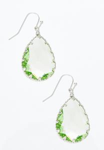 Faceted Glass Tear Earrings