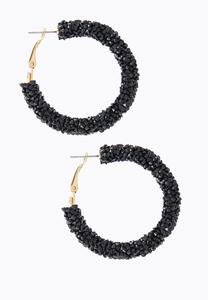Rock Glitter Hoop Earrings