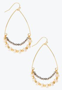 Tear Rondelle Bead Earrings