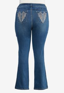 Plus Petite Angel Wing Bootcut Jeans