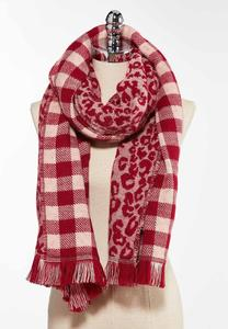 Leopard Plaid Cold Weather Scarf