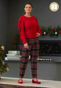 Plus Size Plaid Bengaline Pants