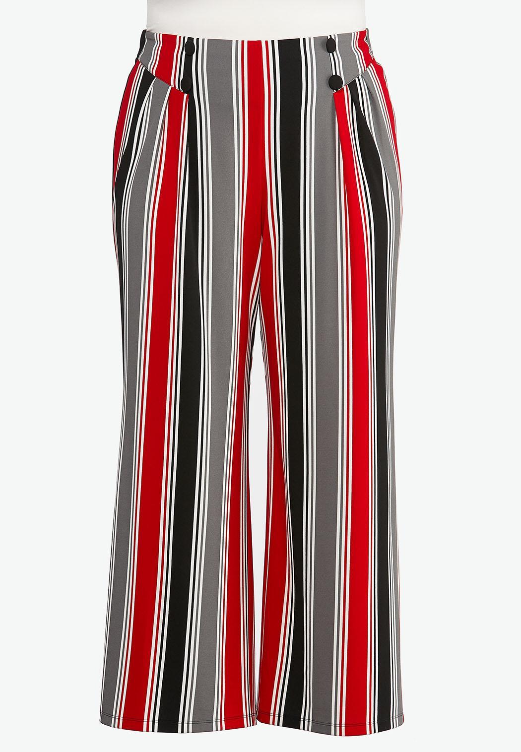 Plus Petite Stripe Button Pants